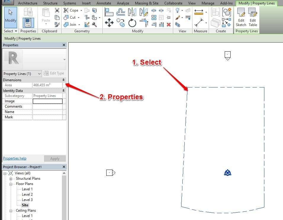 Drawing Property Lines In Revit : Revit courses bim